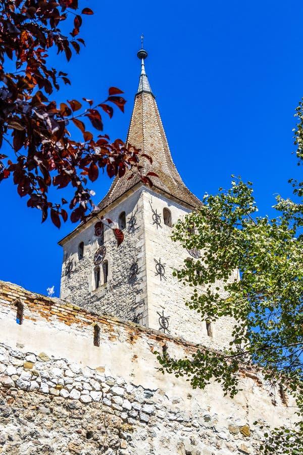 Tour de citadelle d'Aiud en Roumanie images stock