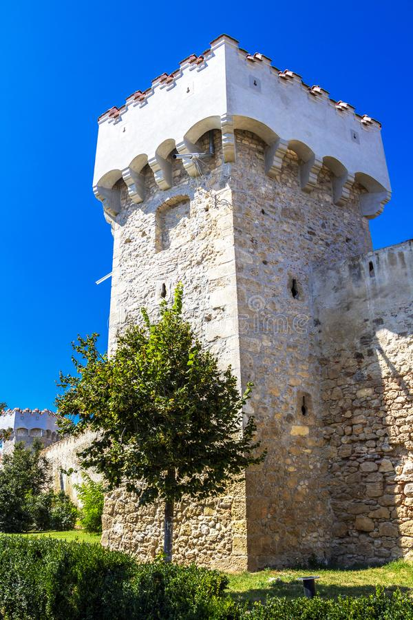 Tour de citadelle d'Aiud en Roumanie photo stock
