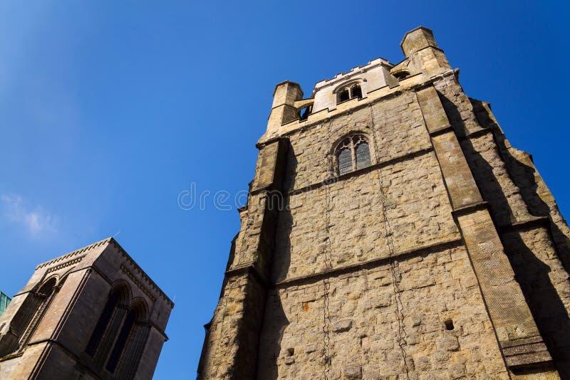 Tour de cloche de cathédrale de Chichester, église de cathédrale de la trinité sainte, Royaume-Uni photo libre de droits