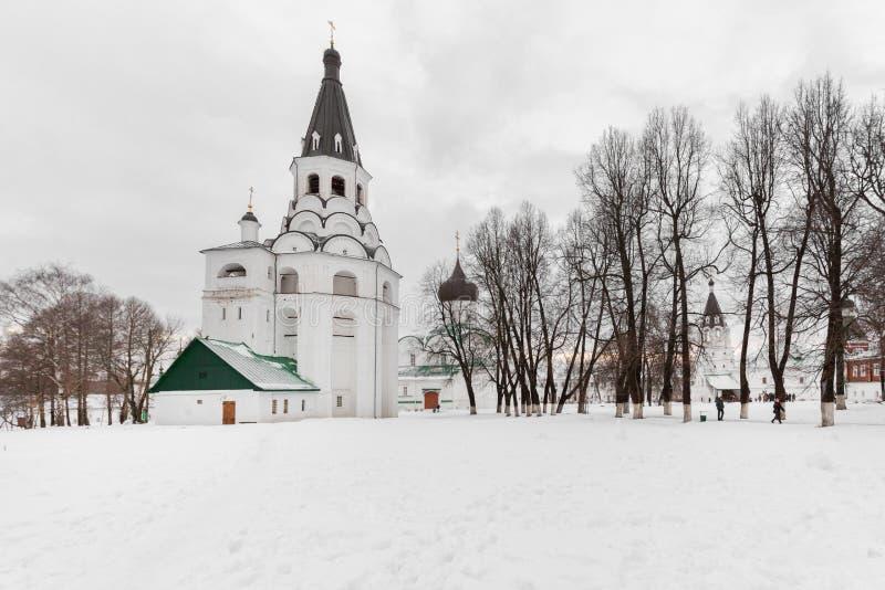 Tour de cloche d'église de crucifixion dans le règlement d'Alexandre photo libre de droits