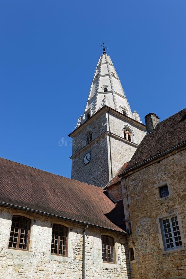 Tour de cloche d'abbaye de baumé photo libre de droits