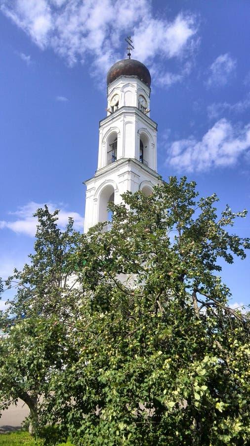 Tour de cloche de monastère de Raif image stock