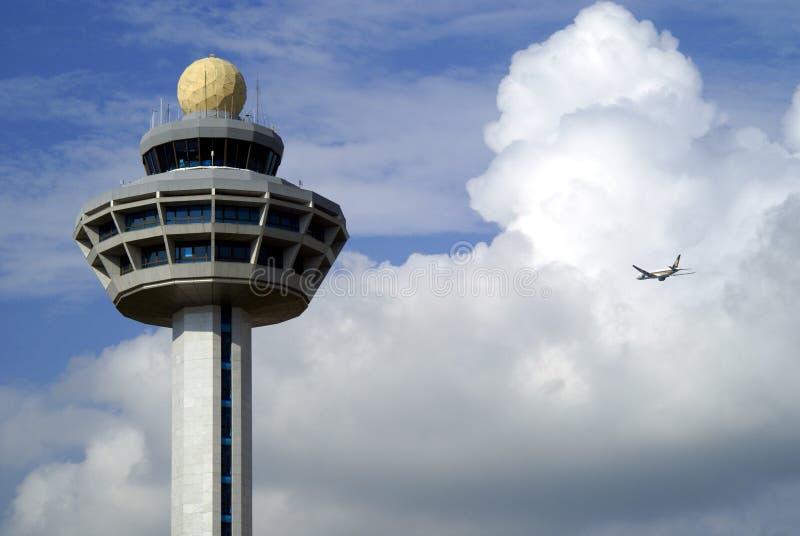 Tour de contrôle d'aéroport image stock