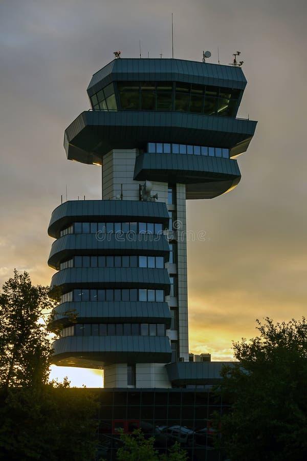 Tour de contrôle d'aéroport photographie stock