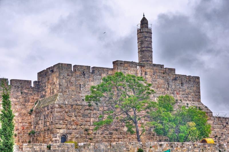 Tour de David, Jérusalem Israël photo stock