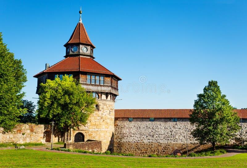 Tour de Dicker Turm dans le Burg d'Esslinger, Allemagne photo stock