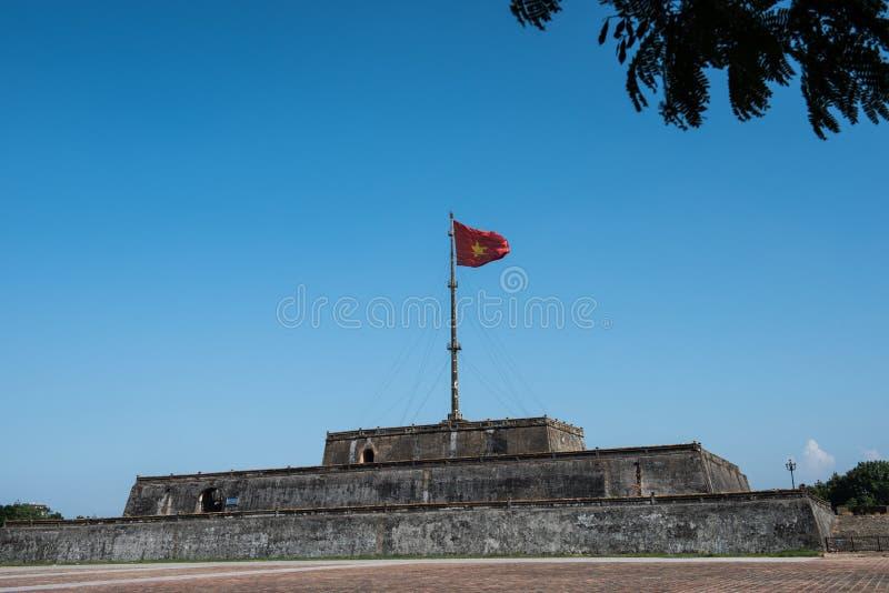 Tour de drapeau dans la citadelle impériale photo libre de droits