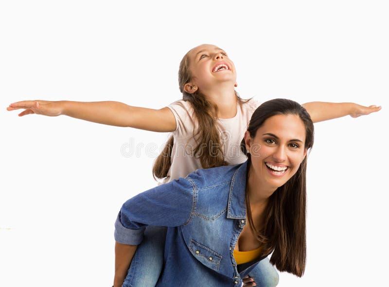 Tour de ferroutage avec la maman photo libre de droits