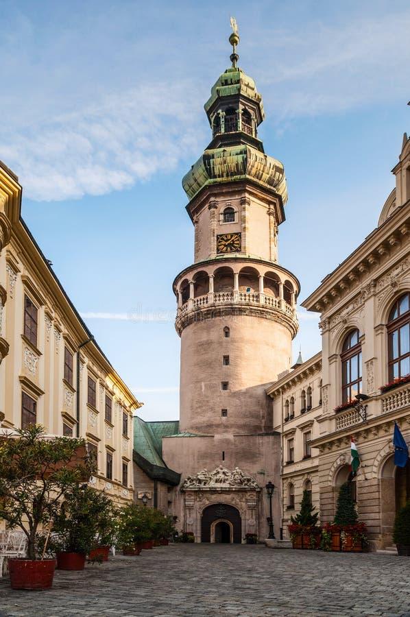 Tour de Firewatch, Sopron, Hongrie images libres de droits