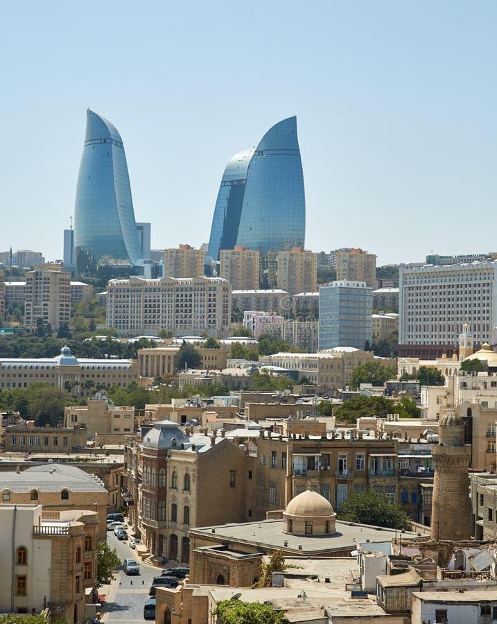 Tour de flamme, Bakou, Azerbaïdjan images stock