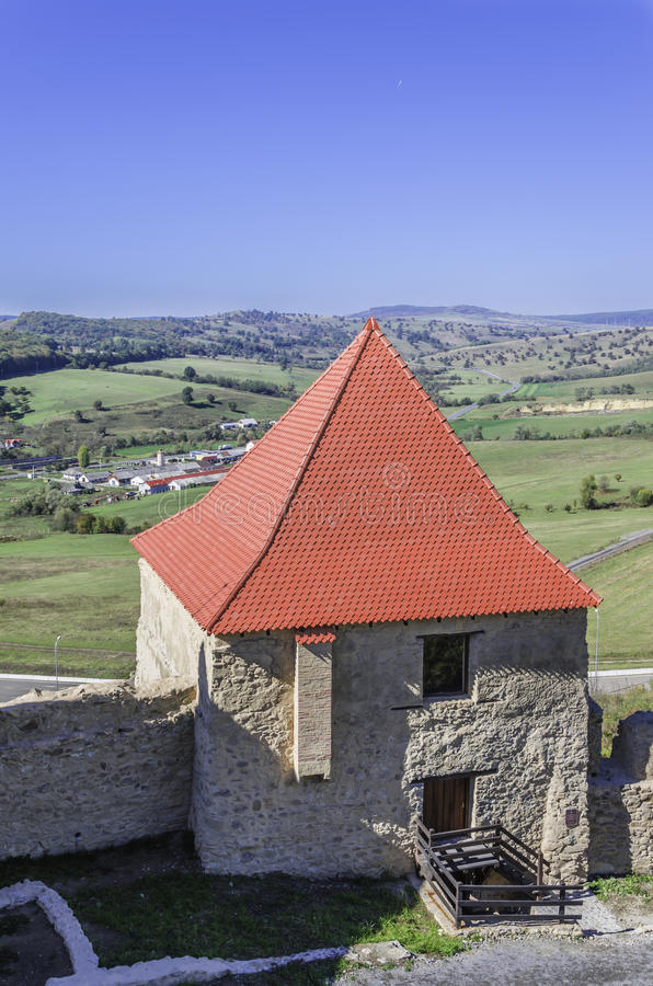 Tour de forteresse, citadelle de Rupea photo stock