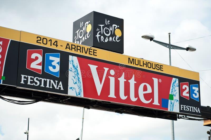 Tour de France - Ankunftslinie lizenzfreie stockfotos