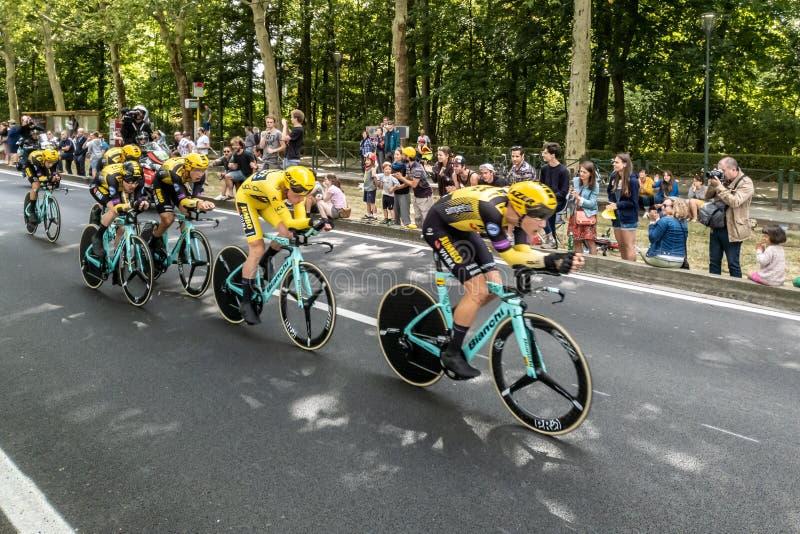 Tour de France 2019 in Brüssel lizenzfreie stockfotos