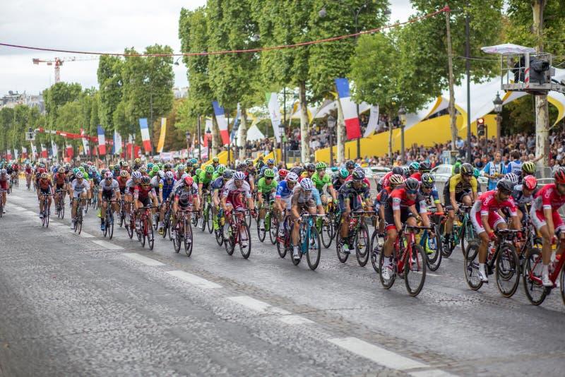 Tour de France Champs-Elysees 2017 fotografía de archivo