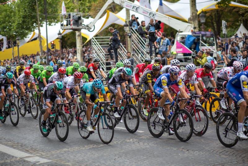 Tour de France Champs-Elysees 2017 imagen de archivo libre de regalías