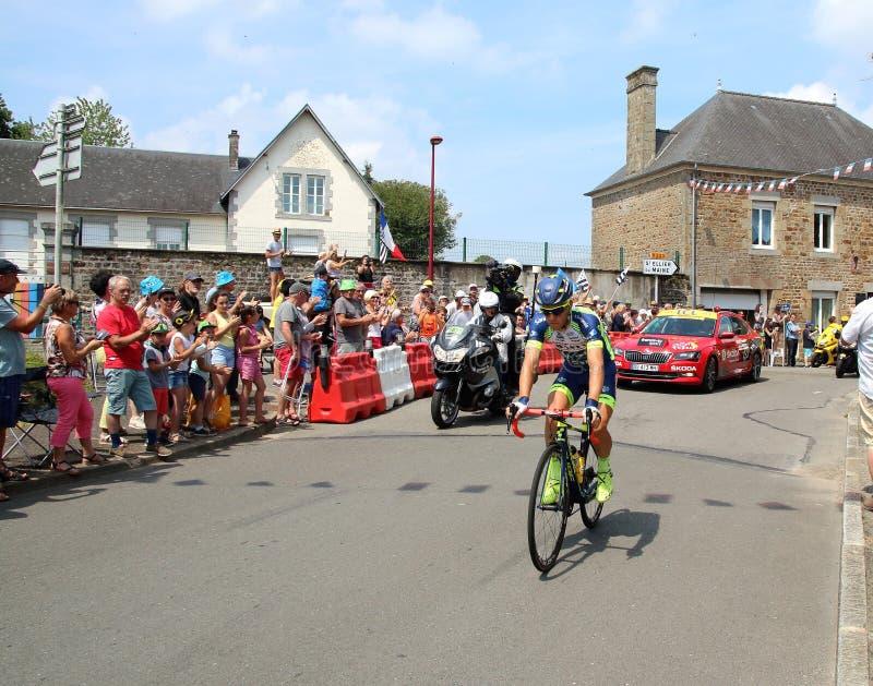 Tour de France cyclist Yoann Offredo 2018 stock images