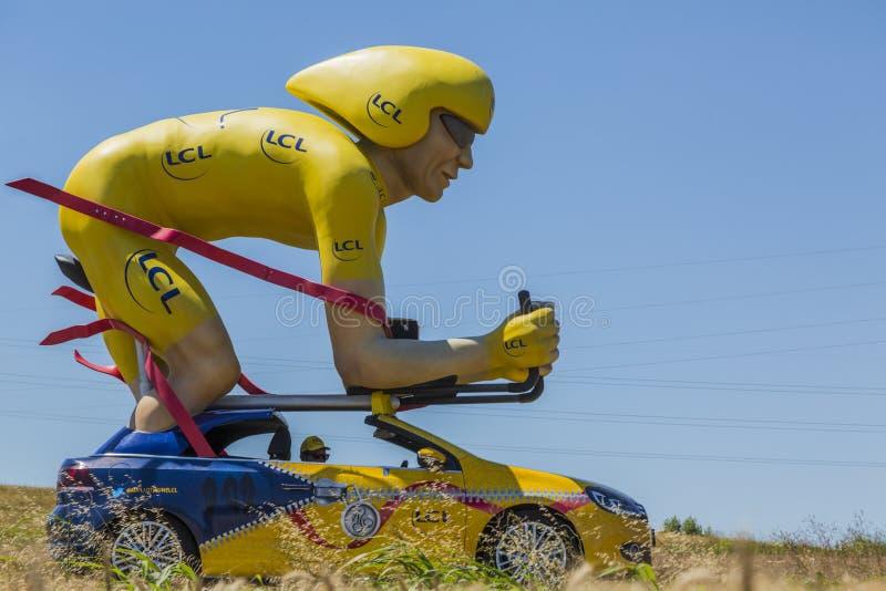 Tour de France 2016 della mascotte del ciclista di LCL fotografie stock