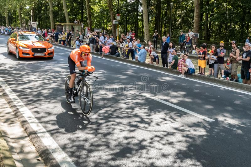 Tour de France 2019 em Bruxelas foto de stock royalty free