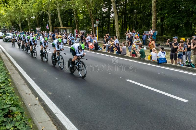 Tour de France 2019 em Bruxelas fotos de stock royalty free