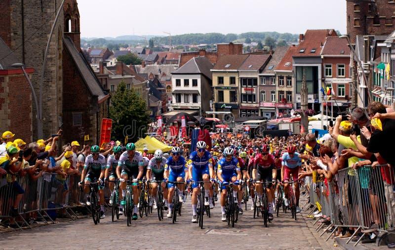 Tour de France 2019: Fase 1 da 106th edição da raça de ciclismo do Tour de France em Bélgica foto de stock