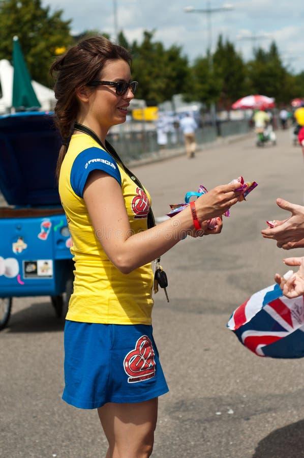 Tour de France - haribo Werbung stockfotografie