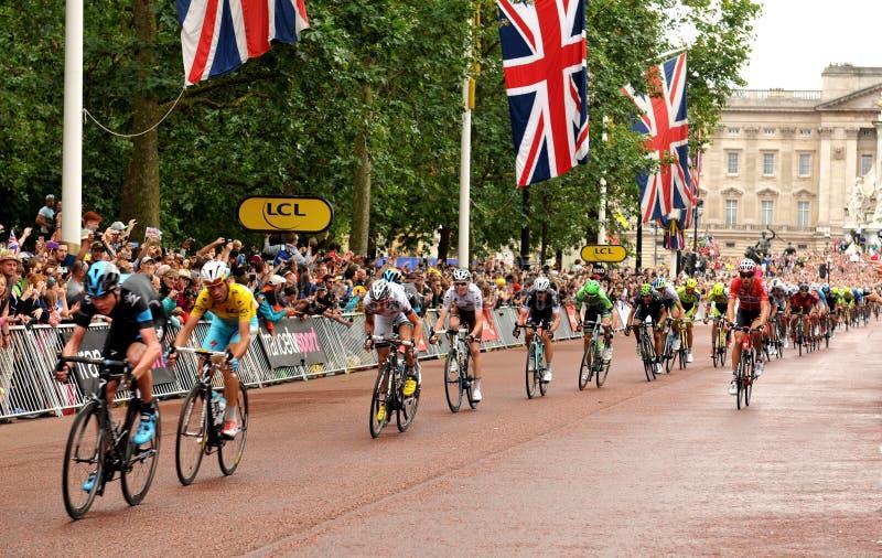 Tour de France i London, UK royaltyfria bilder