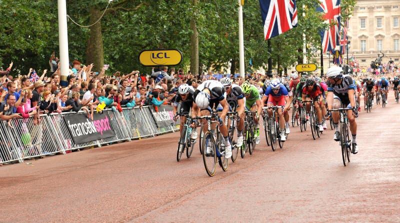 Tour de France i London, UK royaltyfri fotografi