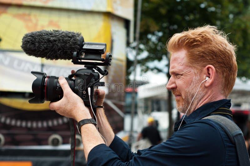 Tour de France - Kameramann lizenzfreies stockfoto