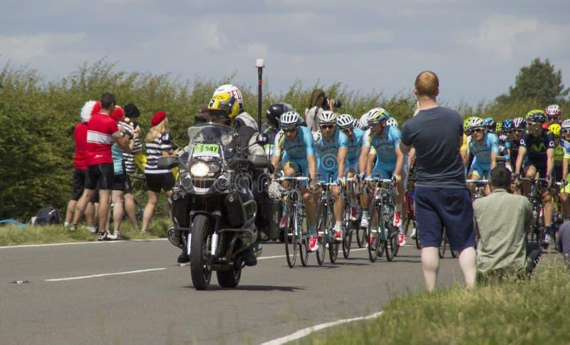 Tour de France 2014 líderes fotografia de stock