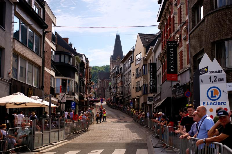 Tour de France 2019: Stage 1 in Belgium, spectators are waiting for riders stock photos