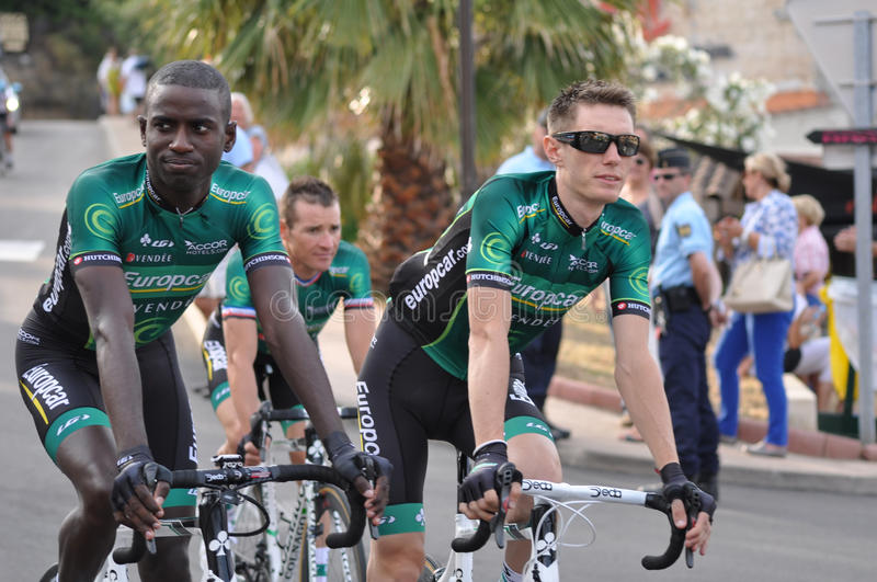 Tour de France 2013, Team Europcar lizenzfreie stockbilder