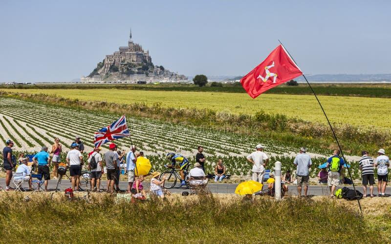 Tour De Francelandskap Redaktionell Fotografering för Bildbyråer