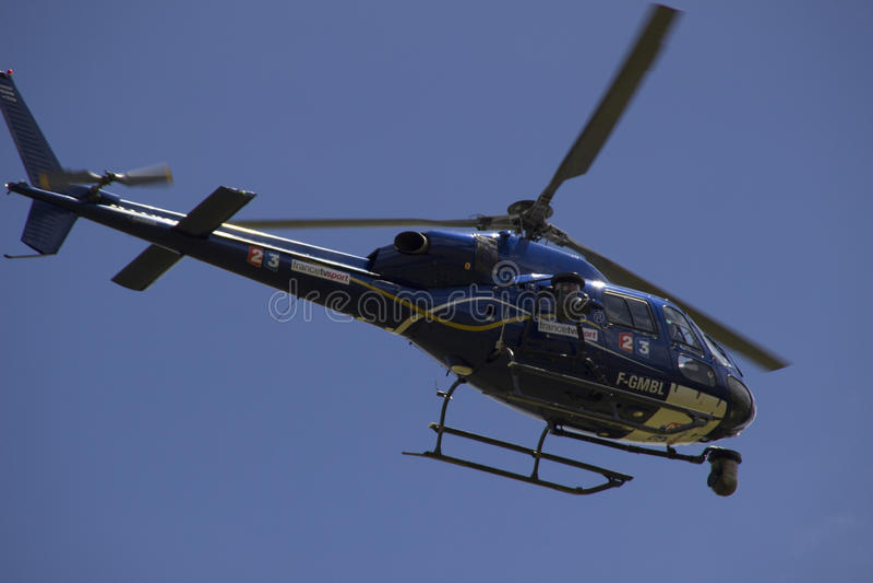 Tour de FranceTVhelikopter 2014 arkivbilder