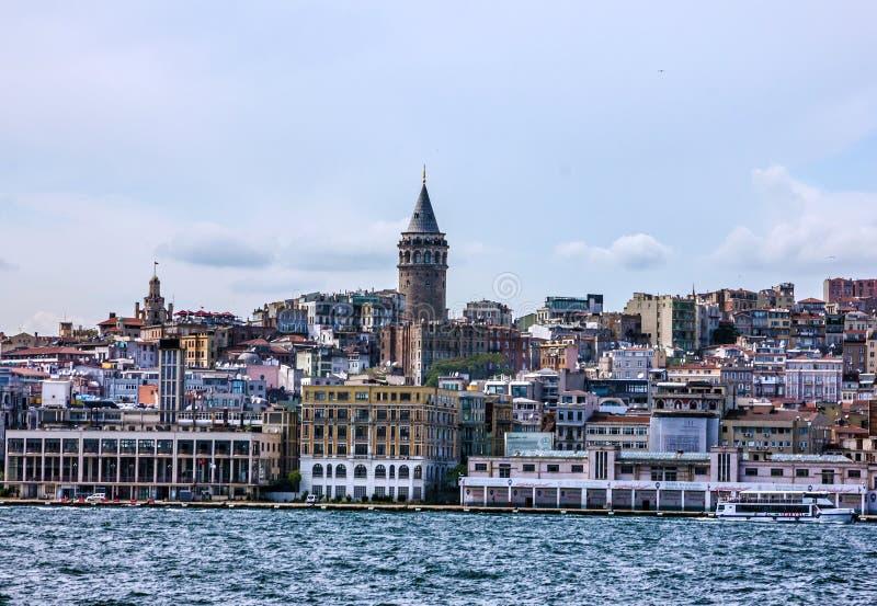 Tour de Galata à Istanbul, Turquie photographie stock libre de droits
