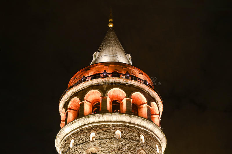 Tour de Galata dans la dinde d'Istanbul photos stock