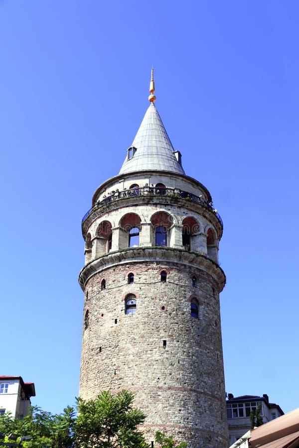 Tour de Galata dans le secteur de Beyoglu, Istanbul, Turquie image libre de droits