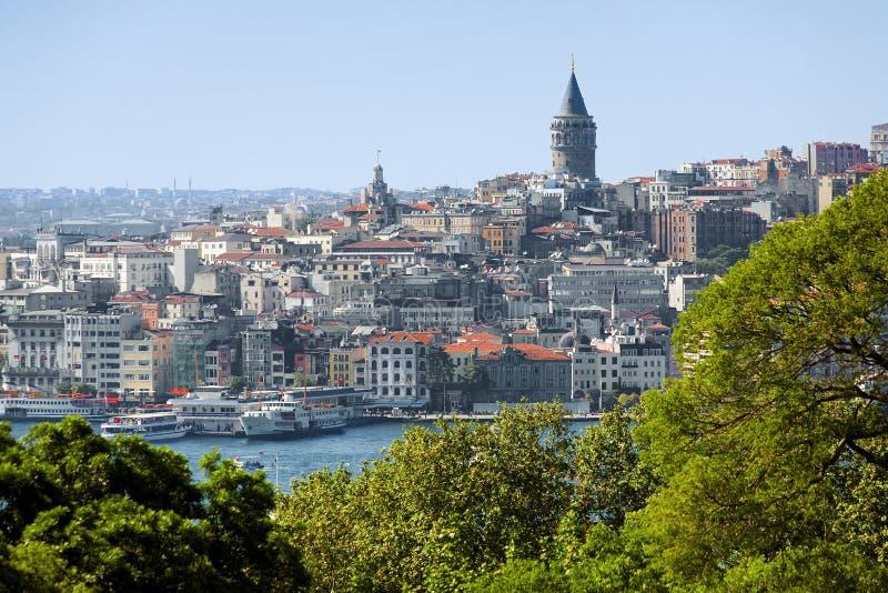 Tour de Galata et district Beyoglu à Istanbul image libre de droits