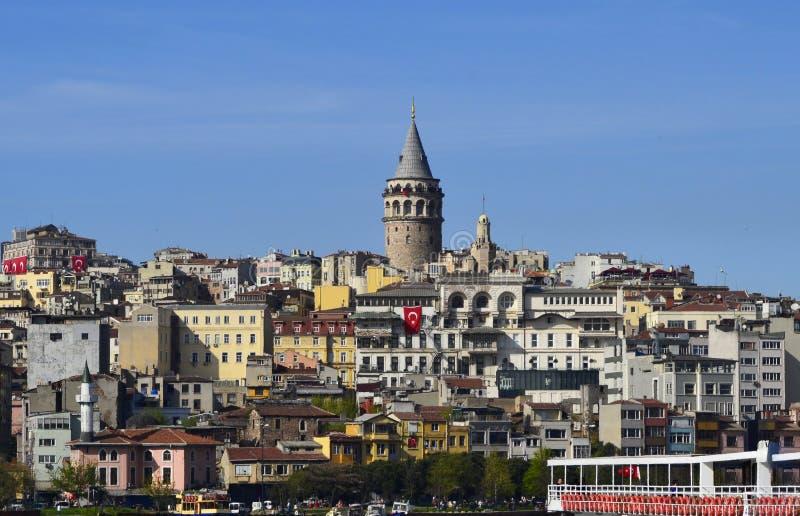 Tour de Galata, klaxon d'or, Beyoglu, Istanbul, Turquie photo stock