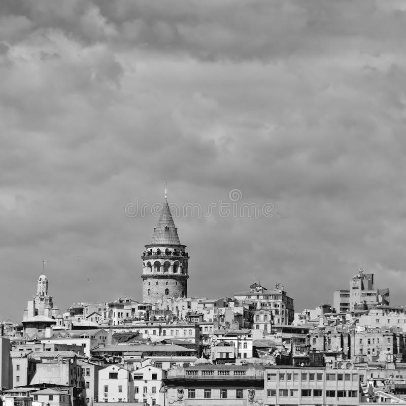 Tour de Galata mono photos stock