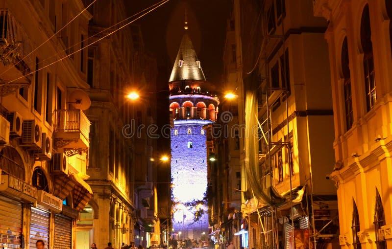 Tour de Galata, secteur Istanbul de Beyoglu image libre de droits