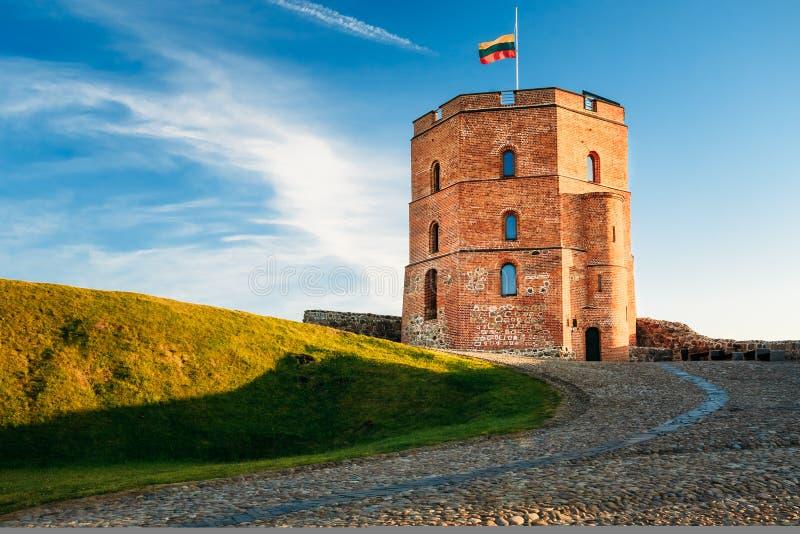 Tour de Gediminas - Gedimino - à Vilnius photographie stock libre de droits