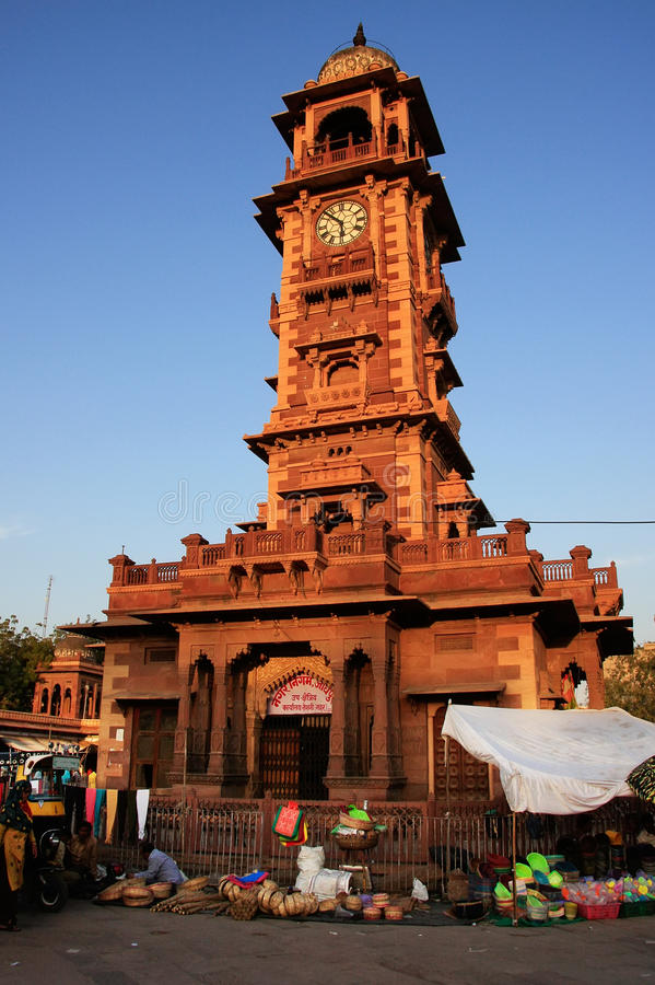 Tour de Ghanta Ghar, marché de Sadar, Jodhpur, Inde photos libres de droits