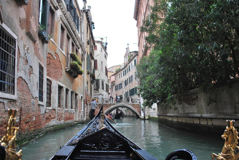 Tour de gondole de Venise photographie stock
