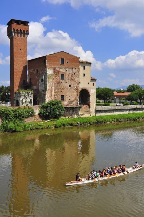 Tour de Guelph de la vieille citadelle, Pise, Italie images stock
