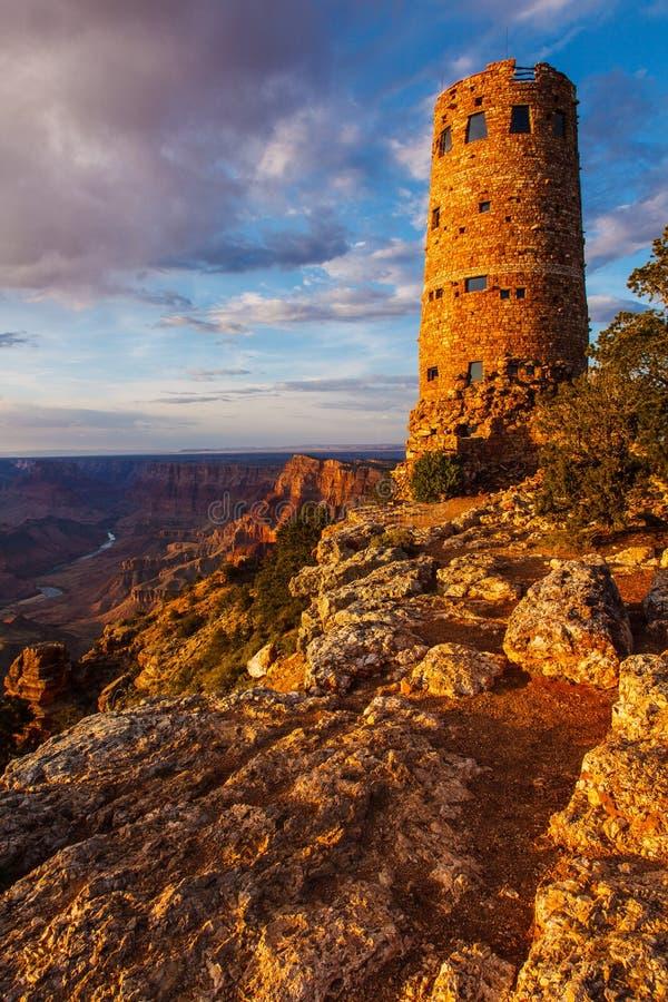 Tour de guet de vue de désert de Grand Canyon photo stock