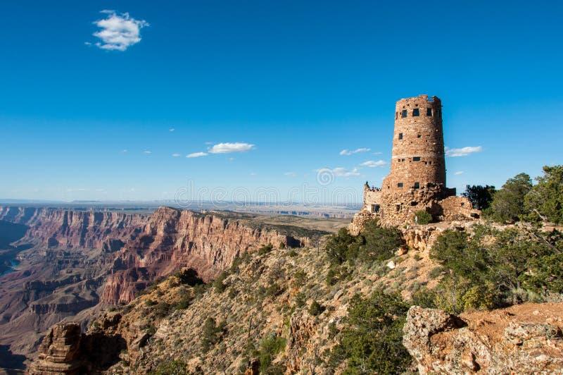 Tour de guet Grand Canyon, Arizona Etats-Unis de vue de désert photos libres de droits