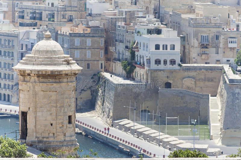 Tour de guet, Senglea, Malte photo libre de droits