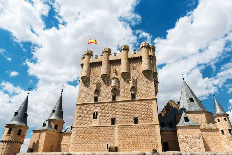 Tour de l'Alcazar De Ségovie en Espagne image libre de droits