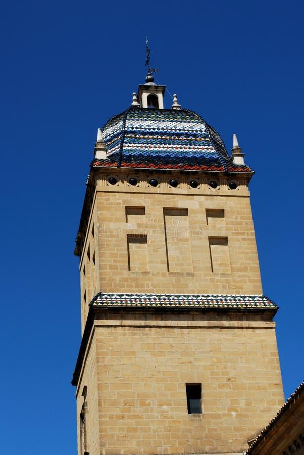 Tour de l'hôpital de Santiago, Ubeda, Espagne. image stock