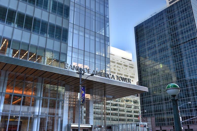Tour de la Banque d'Amérique, New York photos stock